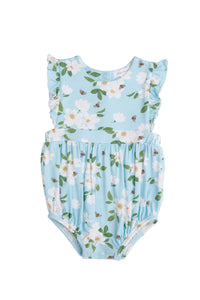 Magnolia Blue Ruffle Sunsuit Blue