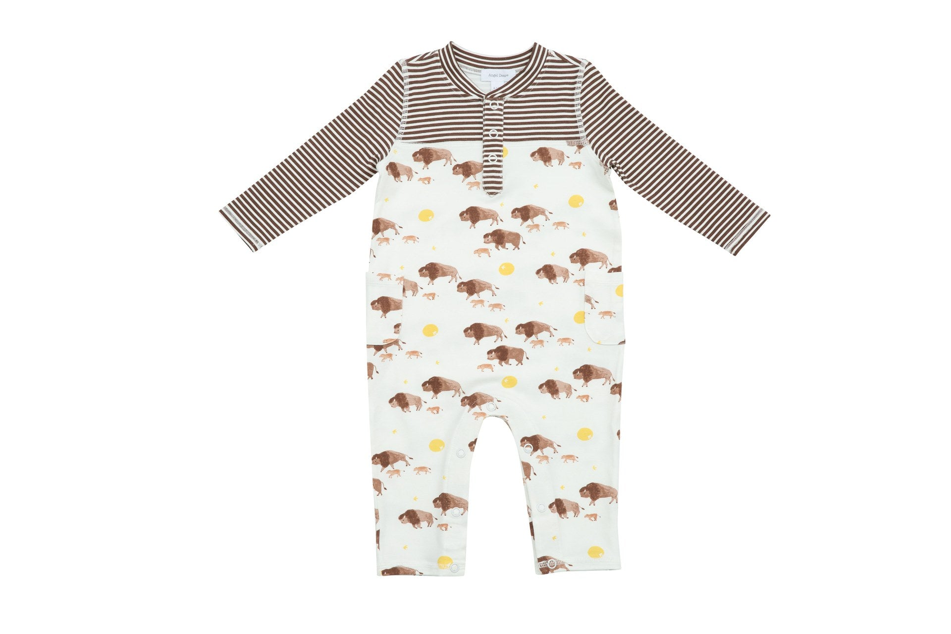 Bison Romper With Pockets