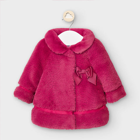 Faux Fur Baby Coat-Claret