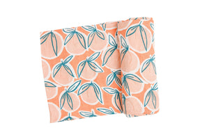 Peachy Swaddle Blanket Canteloupe