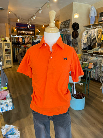 SLUB JERSEY SS POLO-ORANGE CRUSH