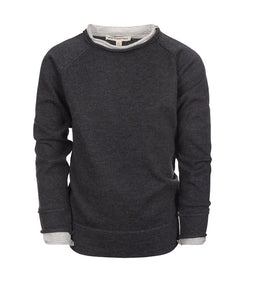Jackson Roll Neck Sweater-Charcoal Heather
