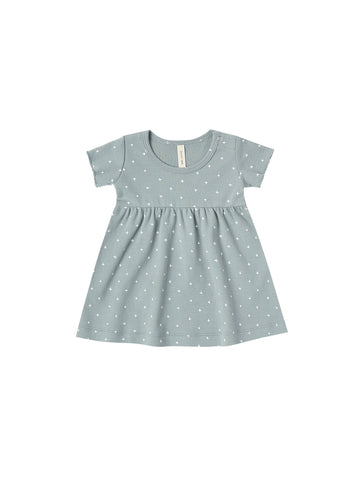SHORT SLEEVE BABY DRESS/OCEAN