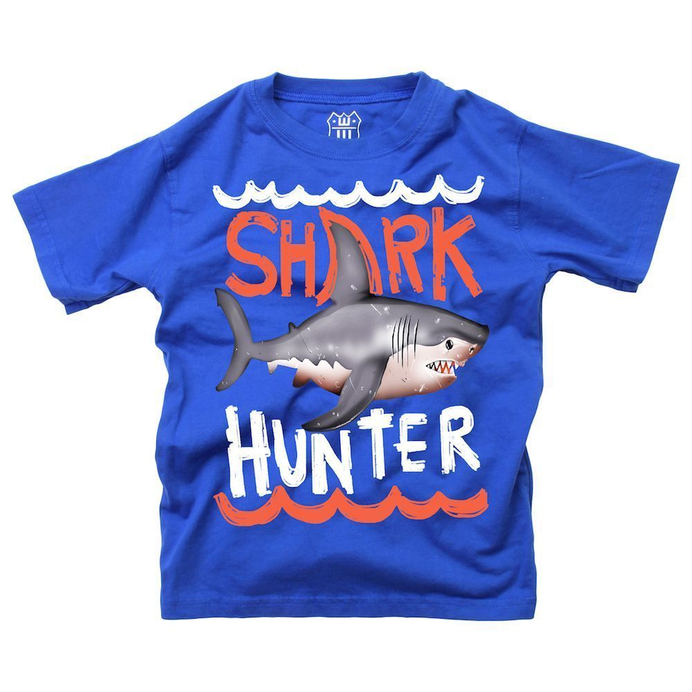 Shark Hunter SS Tee/Blue Moon