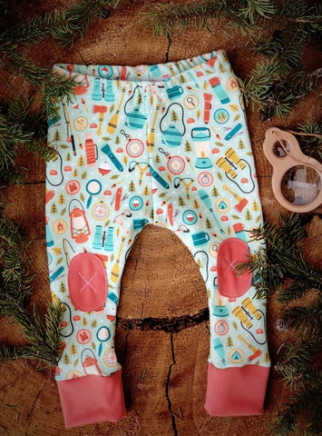 Alpine Baby Leggings/Camping In Coral