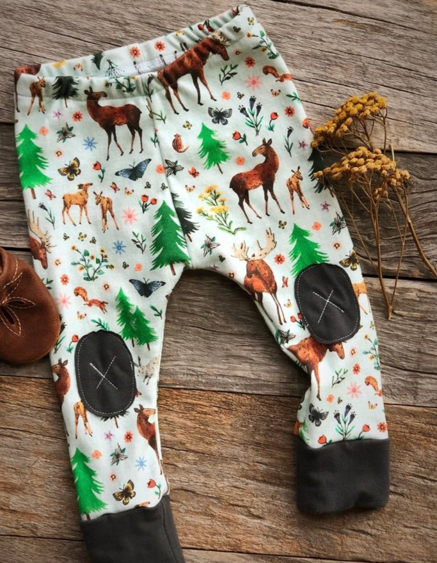 Alpine Baby Leggings/Moose Flower Fields