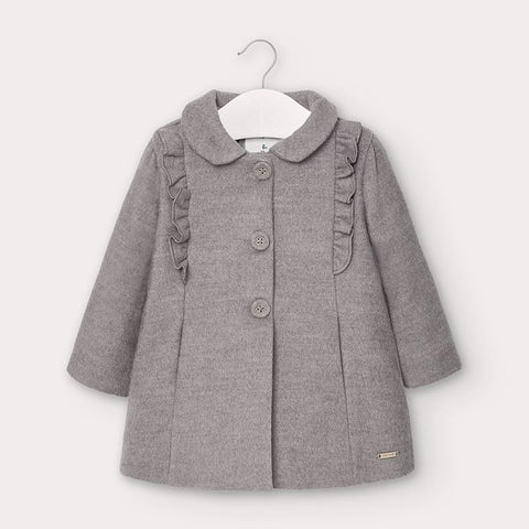 Ruffle Coat-Grey
