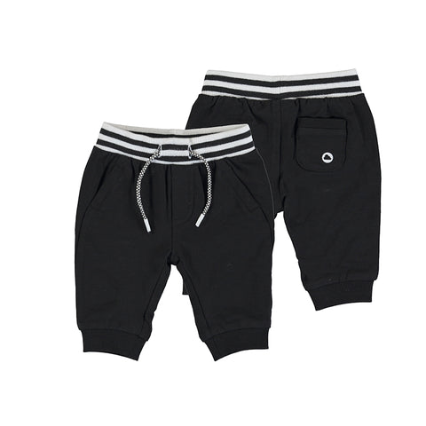 Fleece trousers-black