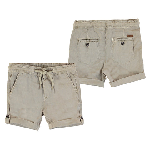 linen relax shorts-wicker