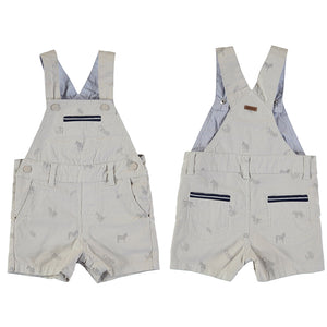 Twill short overalls-canvas