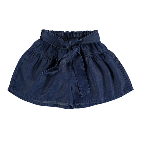 denim full short-dark denim