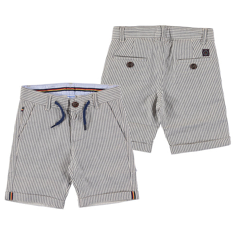 Striped bermuda shorts-navy