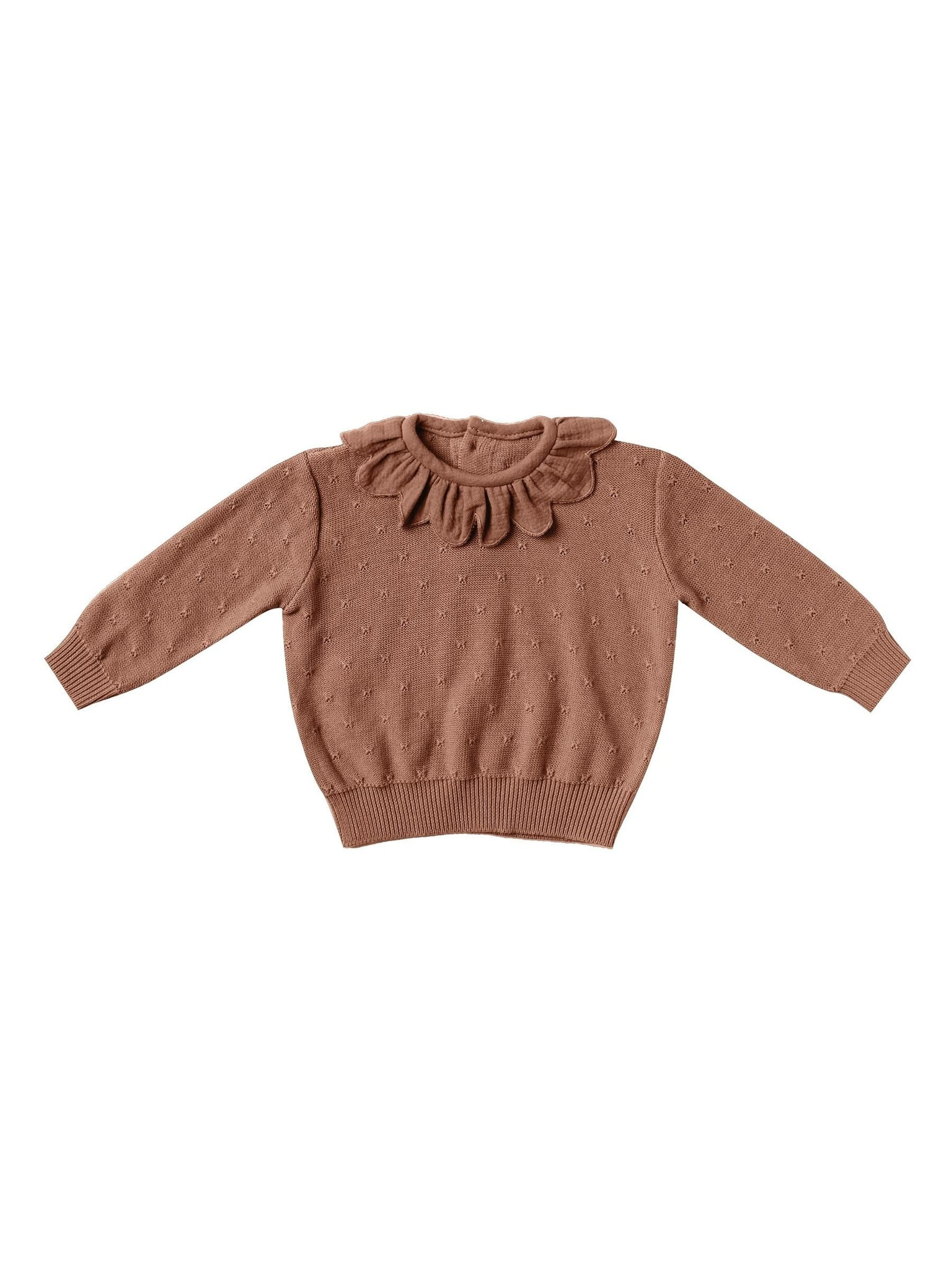 Petal Knit Sweater/Clay