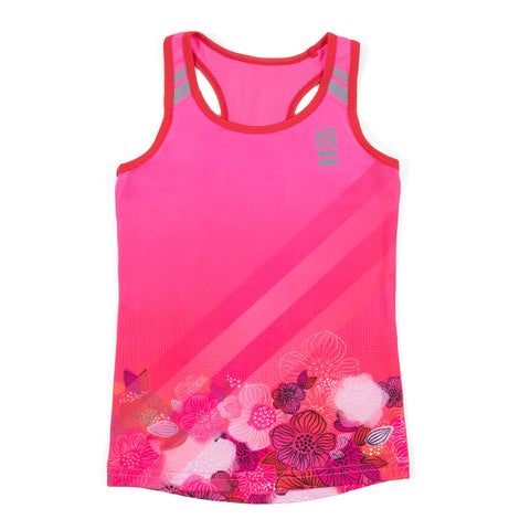 ATHLETIC TANK PINK FLORAL