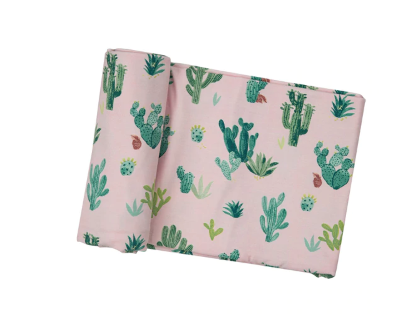 Cactus Pink Swaddle Blanket