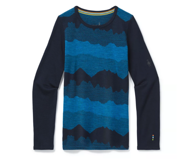 Kids' Merino 250 Base Layer Pattern Crew