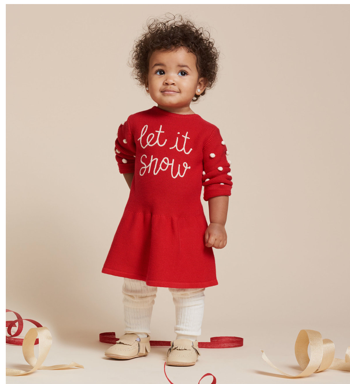 Let It Snow Baby Sweater Dress