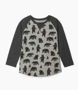 Black Bears Raglan Tee
