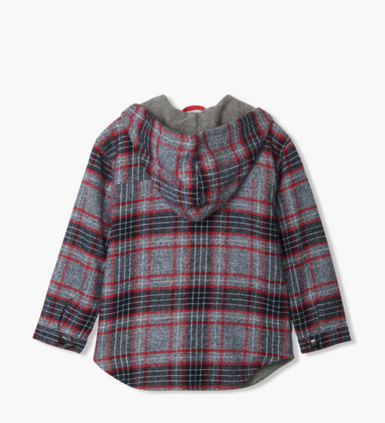 Winter Plaid Woven Full Zip Hoodie