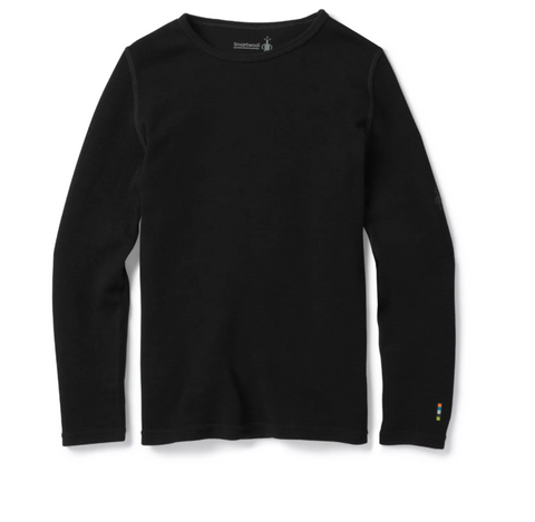 Kids' Merino 250 Base Layer Crew-Black