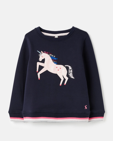 Mackenzie Sweatshirt-Navy Unicorn