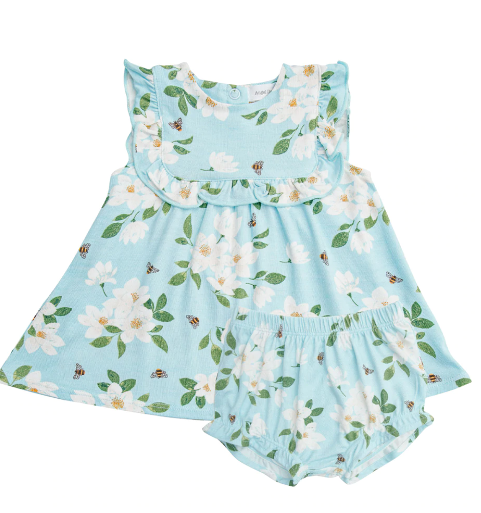 Magnolia Ruffle Top and  Bloomer-Blue