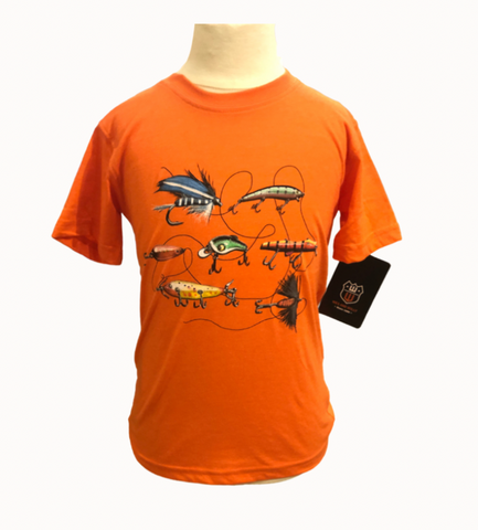 Fishing Lures SS Tee/Orange