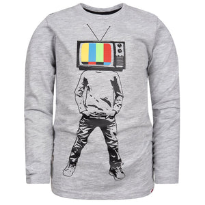 Graphic Long Sleeve Tee/Plugged In