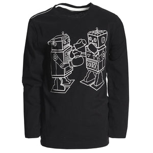 Graphic Long Sleeve Tee/Boxing Bots