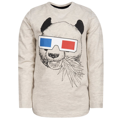 Graphic Long Sleeve Tee/Panda Vision