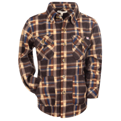 Snow Fleece Shirt- Ginger Check
