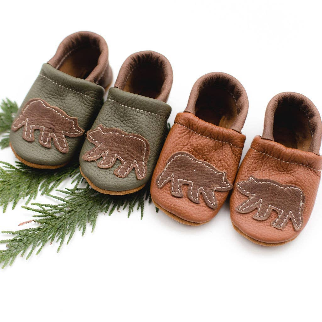 Shoes with Designs - Bear on Sienna