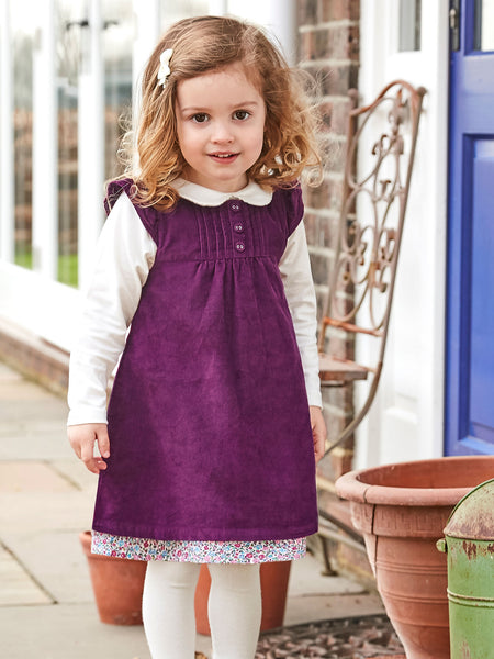 PRETTY CORD DRESS-PLUM