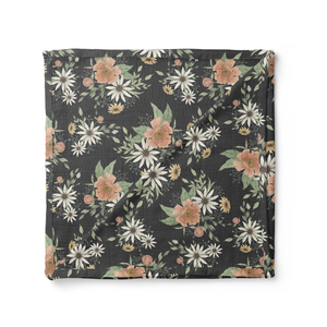 Spring Blossom Swaddle-Charcoal