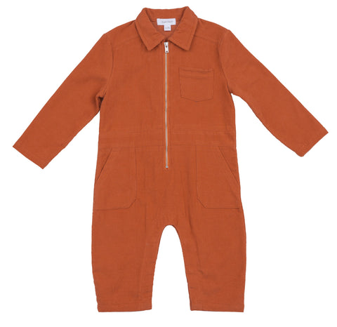 Corduroy Retro Jumpsuit/Rust