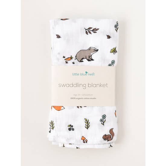 Into the Woods Swaddling Blanket