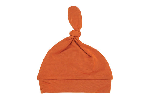 Solid Basic Rust Knotted Hat