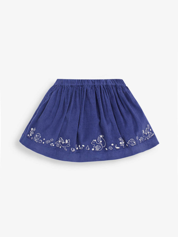 CHINA BLUE WOODLAND CORD SKIRT