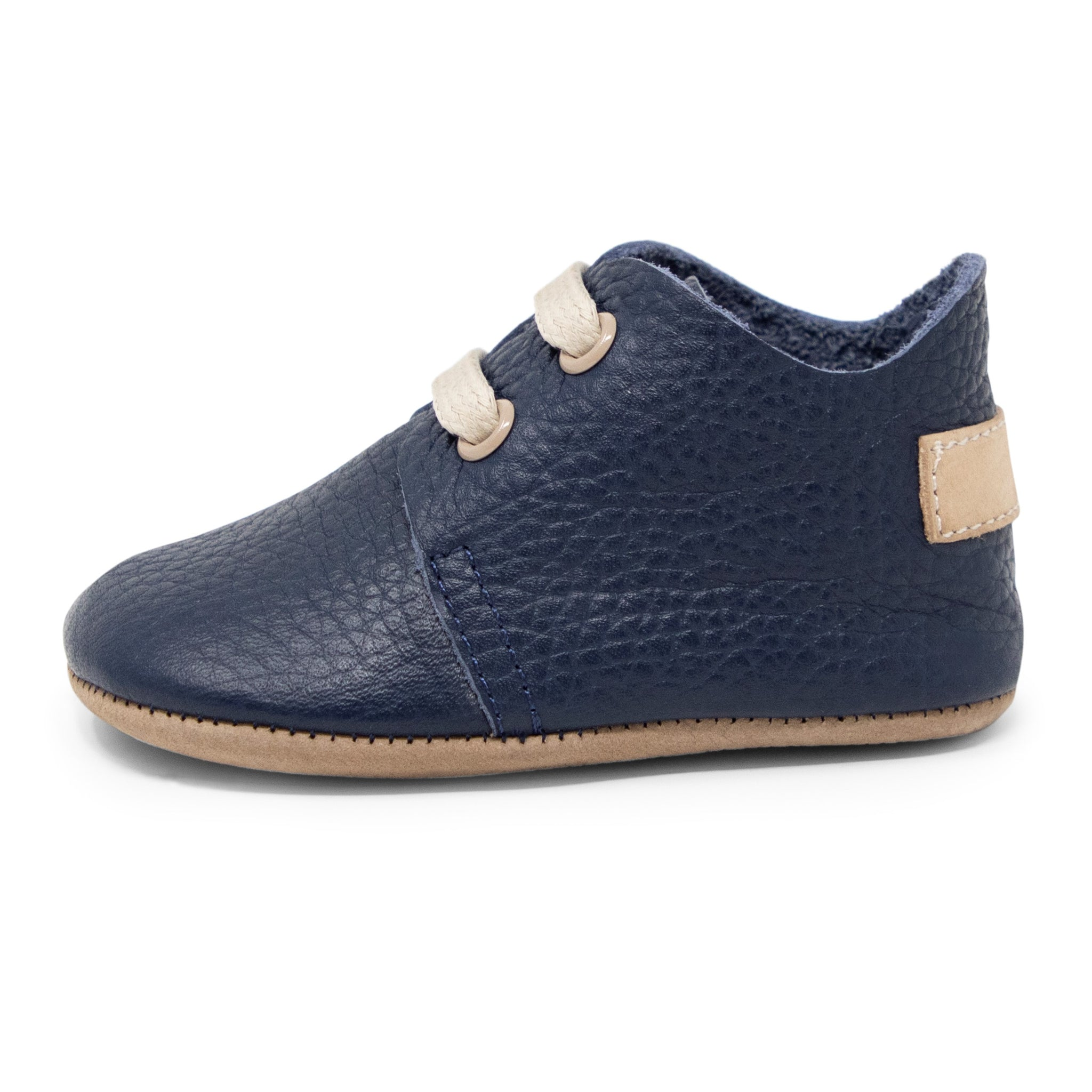 Oxford Baby Genuine Leather Shoes - Dark Blue