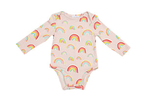 Rainbows Lap Shoulder Pink Onesie