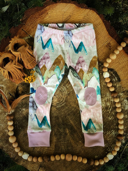 Alpine Baby Leggings/Pastel Mountains