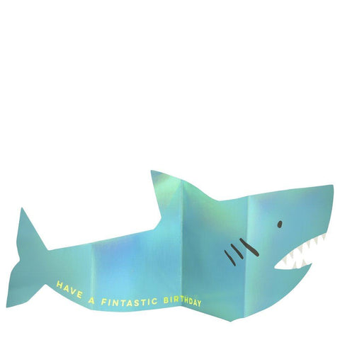 Metallic Shark Concertina Card