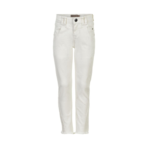 DENIM 3/4 JEANS/WHITE