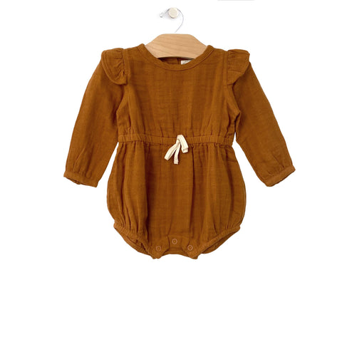 Muslin Shorty Romper-Amber