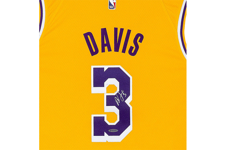 Anthony Davis Autographed Los Angeles Lakers Jersey: Icon Edition