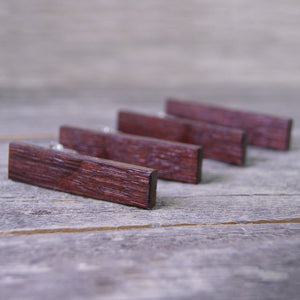 Tie clip set for Groomsmen: Rustic Wine Barrel Wood - Free engraving available!