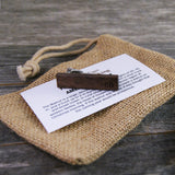 Personalized Groomsmen Tie Clip Set Crafted from American Black Walnut