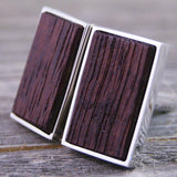 French Wine Barrel Cufflinks - White Oak Barrel Stave Wood is Perfect for Wine Lovers!