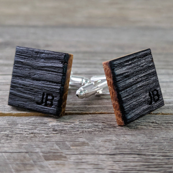 Personalized Bourbon Barrel Cuff links