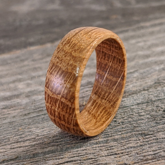 Wood Bourbon Barrel Ring for Men